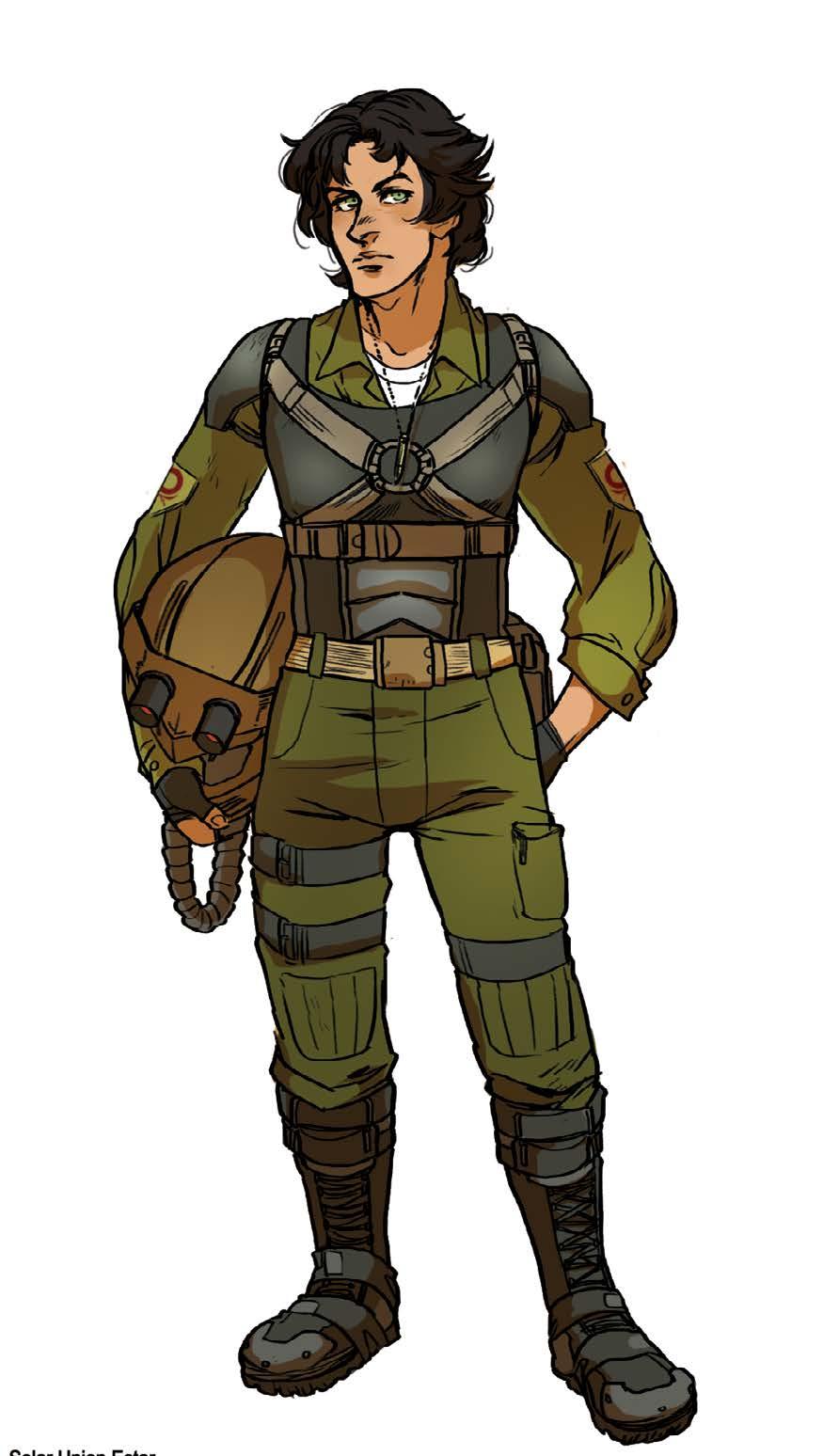 Le Capitaine Estar de la Légion étrangère de Mars Unifiée. Originaire de Gursk, L'enclume d' Estar a été envoyée dans la zone pour pacifier et protéger les colonies de l'Union solaire.